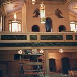 Choir loft renovation completed.