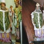 St. Patrick, before and after restoration.